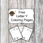 Letter Y Coloring Pages -Free letter Coloring Pages for Preschool or Kindergarten