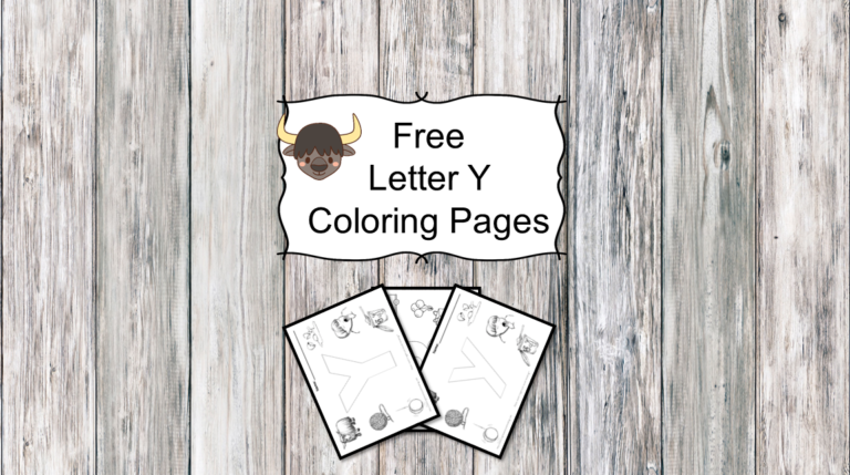 3 Letter Y Coloring Pages -Easy Download!