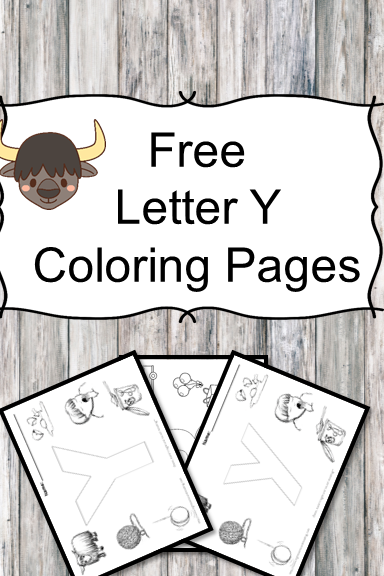 Letter Y Coloring Pages  Free Letter Coloring Pages For Preschool Or  Kindergarten