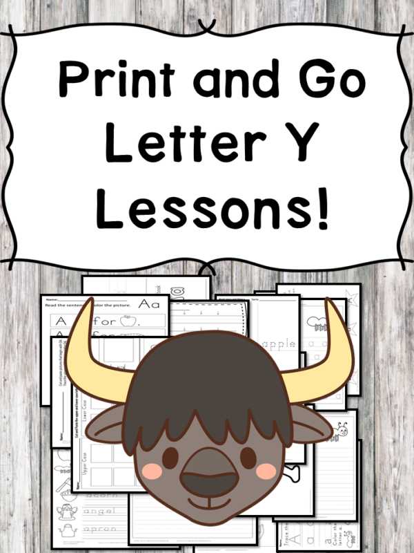 Letter Y Lessons: Print and Go Letter of the Week fun!