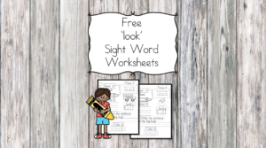 Look Sight Word Worksheets -for preschool, kindergarten, or first grade - Build sight word fluency with these interactive sight word worksheet