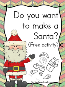 Do you want to make a Santa? You children will have fun with this free cut and paste activity. Make a Santa using this template.