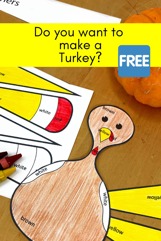 Kindergarten Activity: Make a Turkey