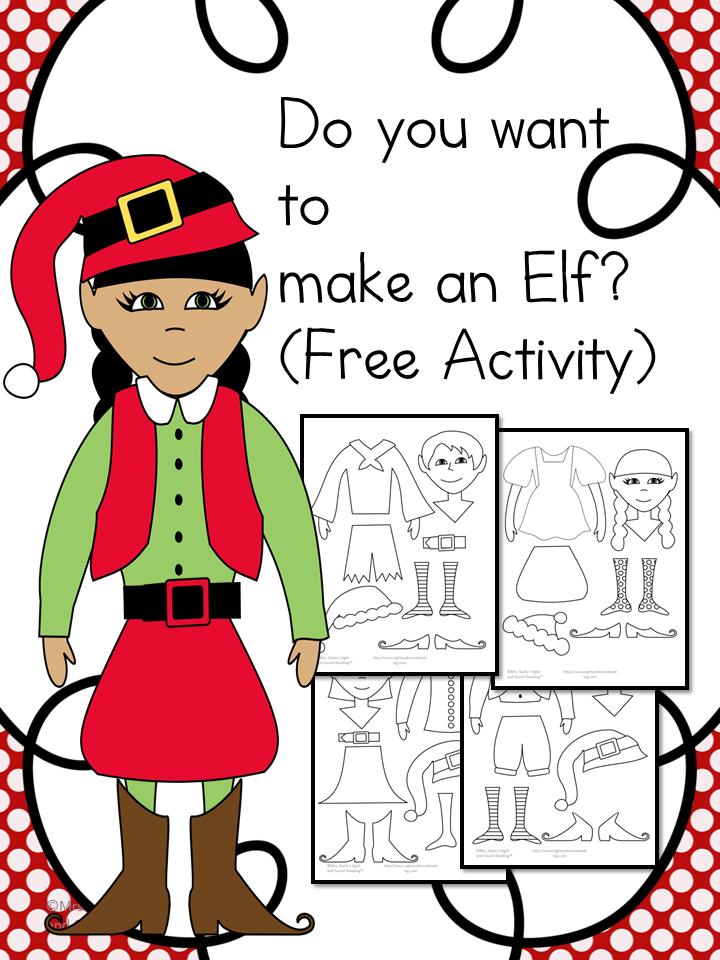 Santa and Elf Worksheets for Kids | Mrs. Karles Sight and Sound ...
