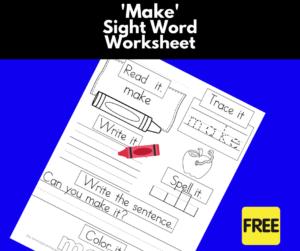 Make Sight Word Worksheet