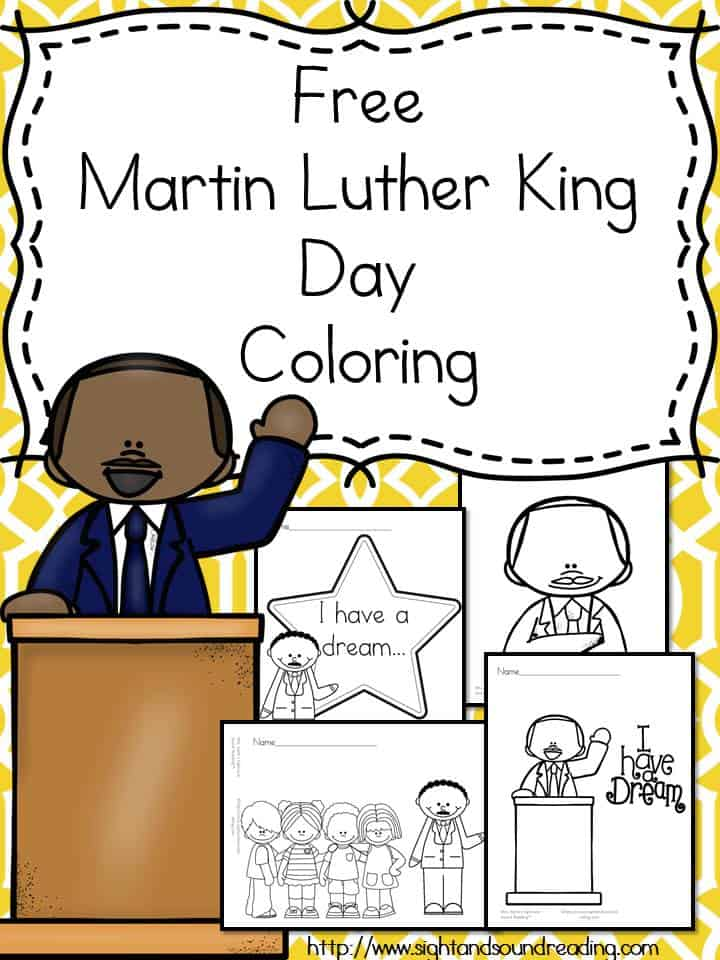 martin luther king preschool martin luther king day coloring for preschool kindergarten 526