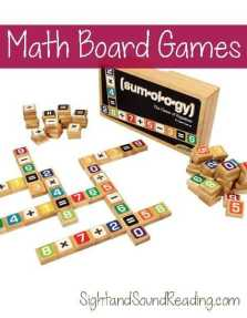 Math Game board Ideas: Great board game ideas that help reinforce and teach math skills. You can have fun learning math!