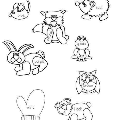 Printable activities for the Mitten for preschool/Kindergarten