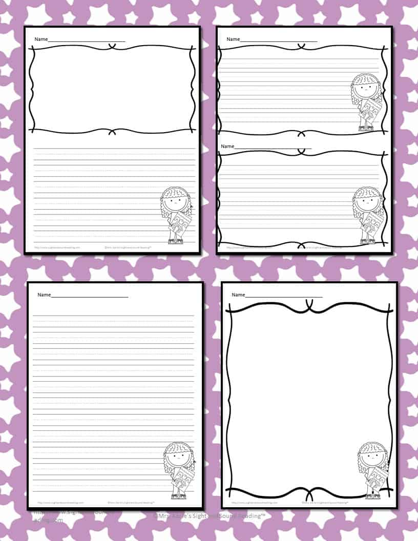 Mothers Day Writing Paper for Kindergarten - Cute, free writing paper for children to write a nice note to their mom!