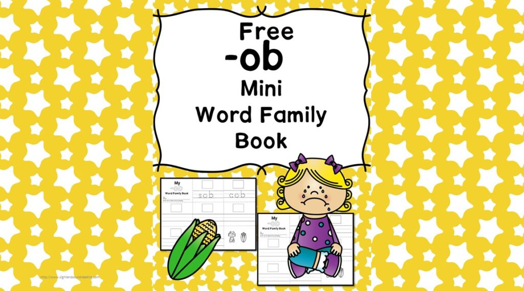 Teach the ob word family using these ob cvc word family worksheets. Students make a mini-book with different words that end in 'ob'. Cut/Paste/Tracing Fun