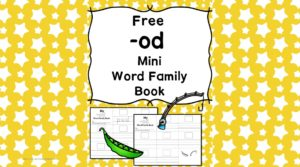 Teach the od word family using these od cvc word family worksheets. Students make a mini-book with different words that end in 'od'. Cut/Paste/Tracing Fun