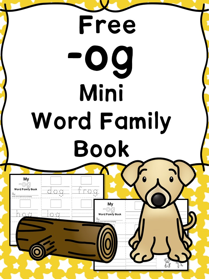 Teach the og word family using these og cvc word family worksheets. Students make a mini-book with different words that end in 'og'. Cut/Paste/Tracing Fun