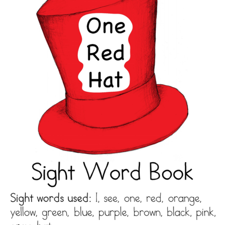 one-red-hat-sight-word-book