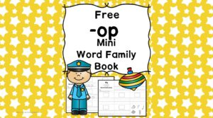 Teach the op word family using these OP cvc word family worksheets. Students make a mini-book with different words that end in 'op'. Cut/Paste/Tracing Fun