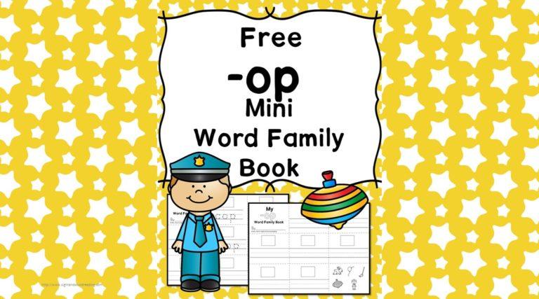 OP CVC Word Family Worksheets