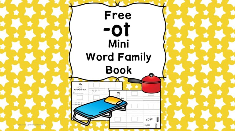 OT CVC Word Family Worksheets