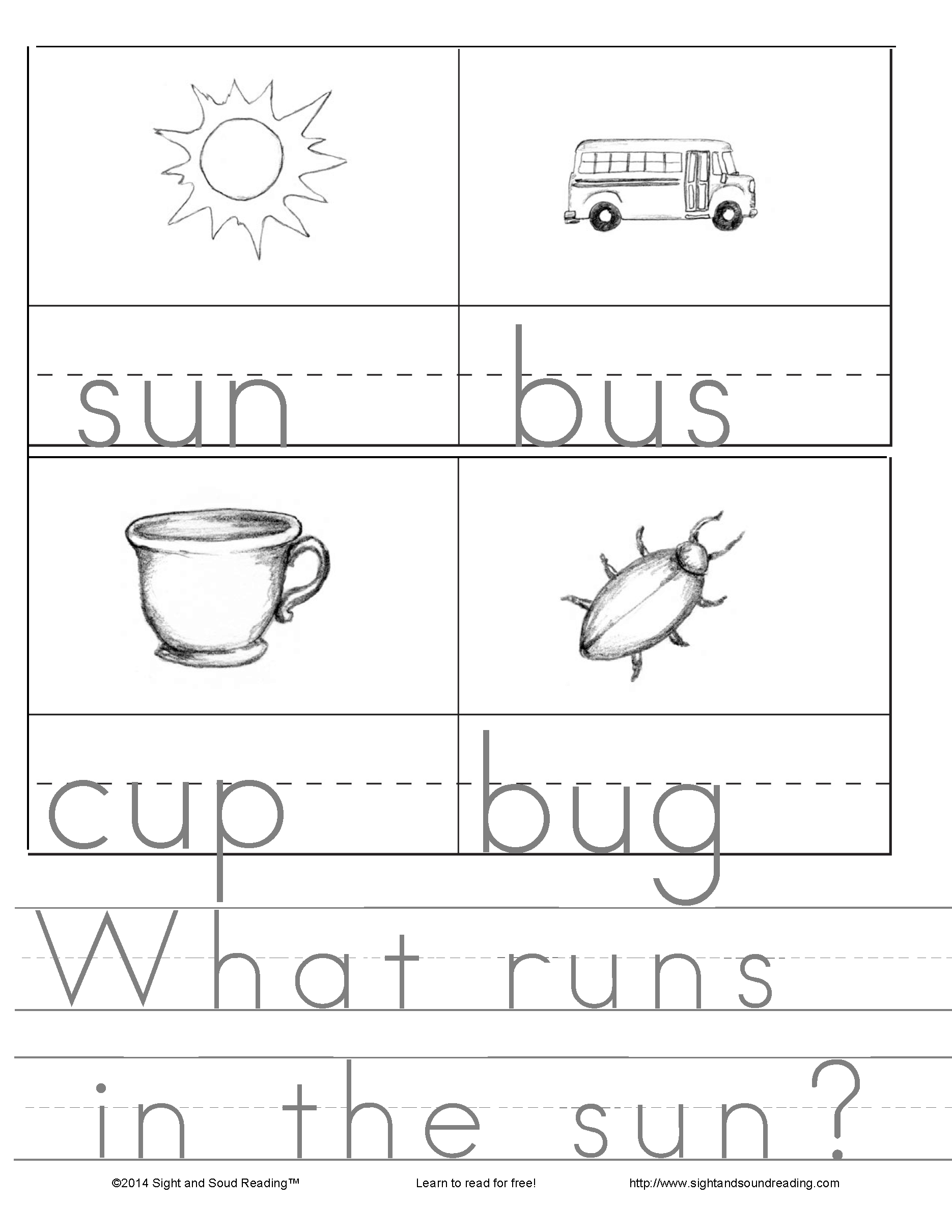 CVC Worksheets | Mrs. Karle\'s Sight and Sound Reading