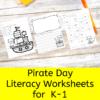 Pirate Cat Literacy Activities