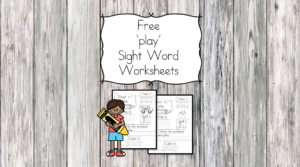 play Sight Word Worksheet -for preschool, kindergarten, or first grade - Build sight word fluency with these interactive sight word worksheets