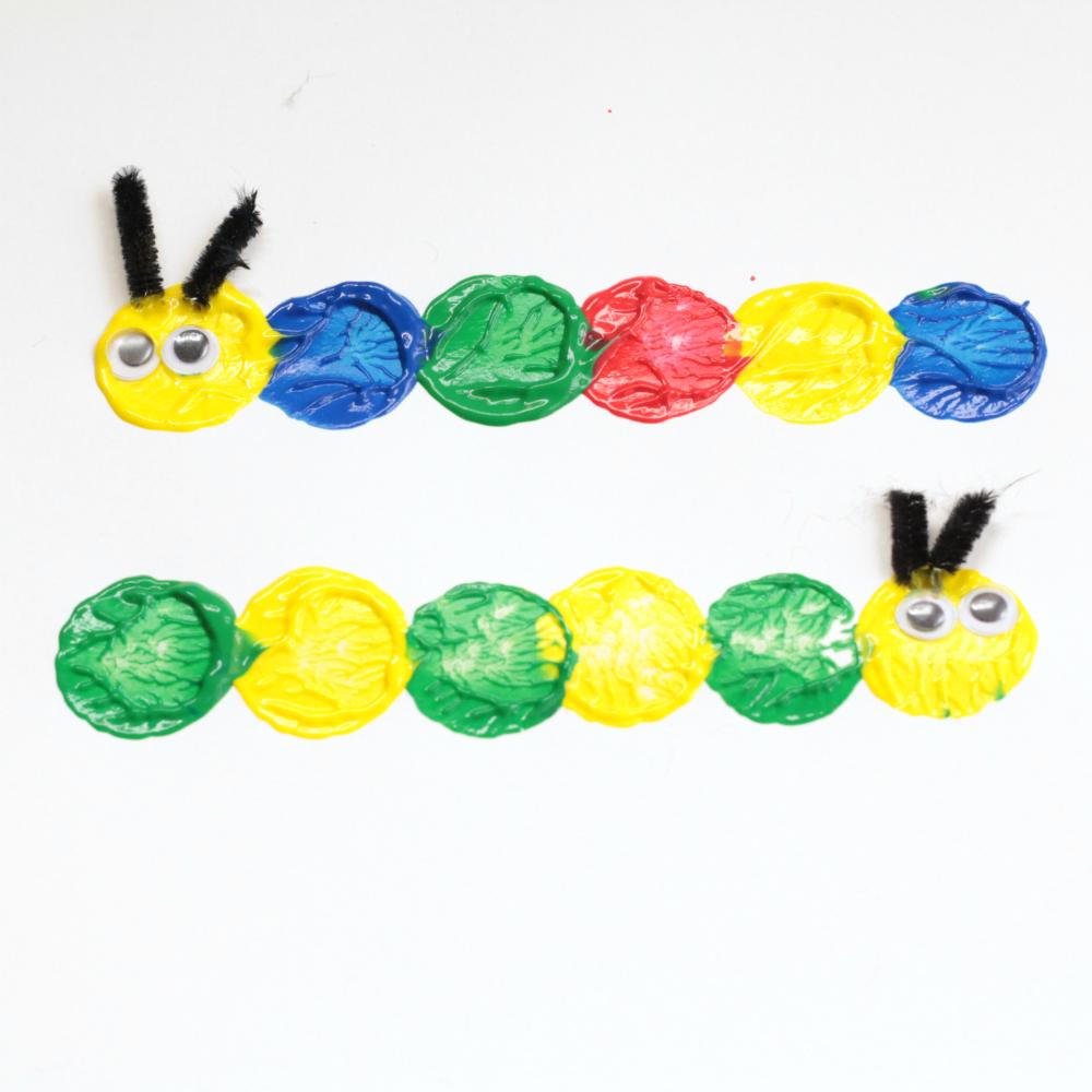 Preschool caterpillar craft fun easy and adorable for Caterpillar crafts for preschoolers