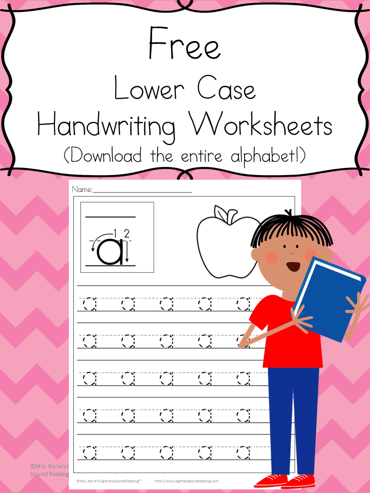 Preschool Handwriting Pages: Download the entire alphabet at one time and help your little one practice handwriting.