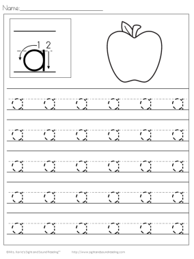 Preschool Handwriting Practice