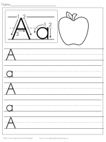 kindergarten handwriting tablet