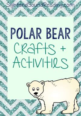 Preschool Polar bear Activities - Fun crafts and activities to do with your preschool student.