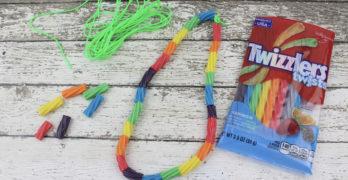 Preschool Rainbow Necklace Craft