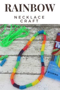 If you are looking for a fun and cute craft for preschool or kindergarten age students, this preschool rainbow necklace craft will bring smiles!