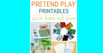 Pretend Play Printables your children will love!