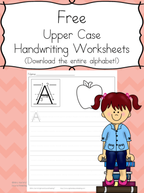 Printable Handwriting Pages: Download the entire alphabet at one time and help your little one practice handwriting.