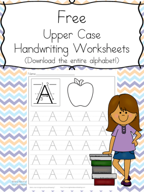 Printable Handwriting Worksheets for Kids: Download the entire alphabet at one time and help your little one practice handwriting.