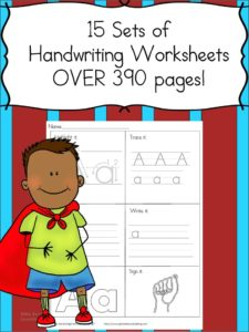 Handwriting Workshetet Pack