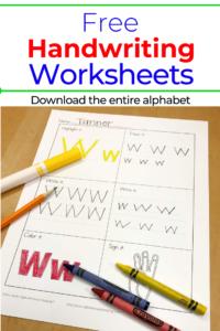Printable Handwriting Worksheets for Kids