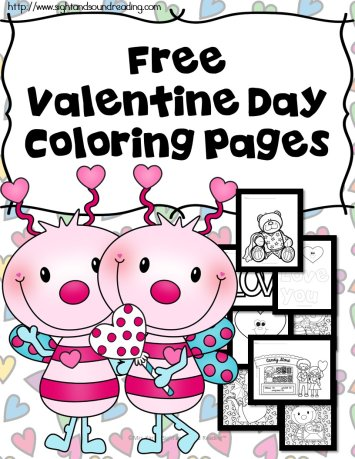 Printable Valentine Coloring Book Pictures For Kids