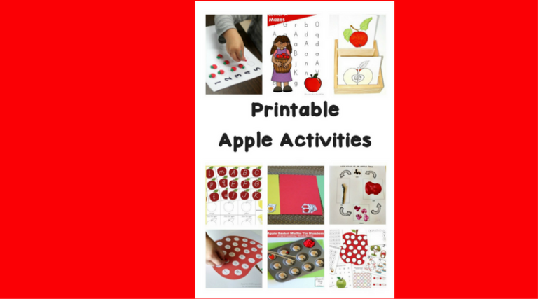 Printable Apple Worksheets and Activities