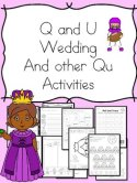 Q and U Wedding Literacy Plans
