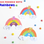 Teaching Phonics with Rainbow Word Families:  Craft and Free Download