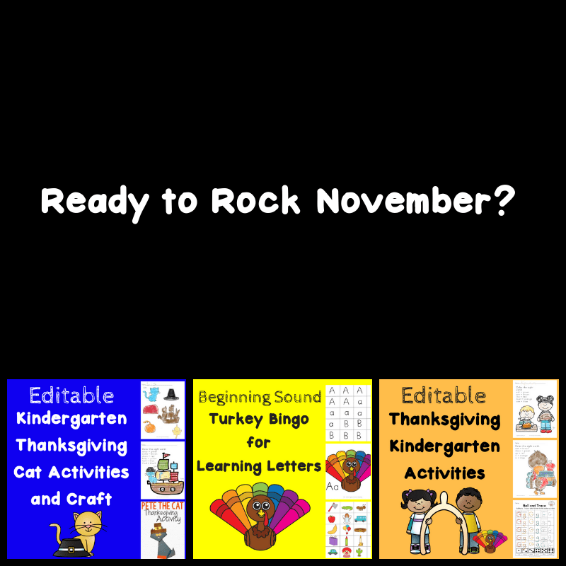 Rock November Literacy Bundle for November