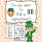 Do you want to roll a leprechaun? Free activity plus more St Patrick Day Kindergarten Worksheets too!