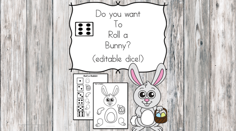 Do you want to Roll a bunny? – Roll and Bunny Printable dice game!