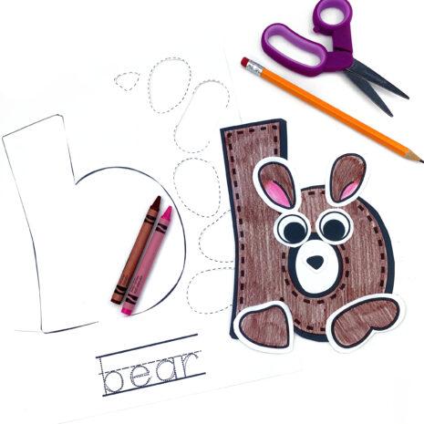 lower-case-alphabet-animal-b