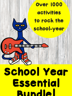 School Year essential bundle: August Monthly Literacy Special
