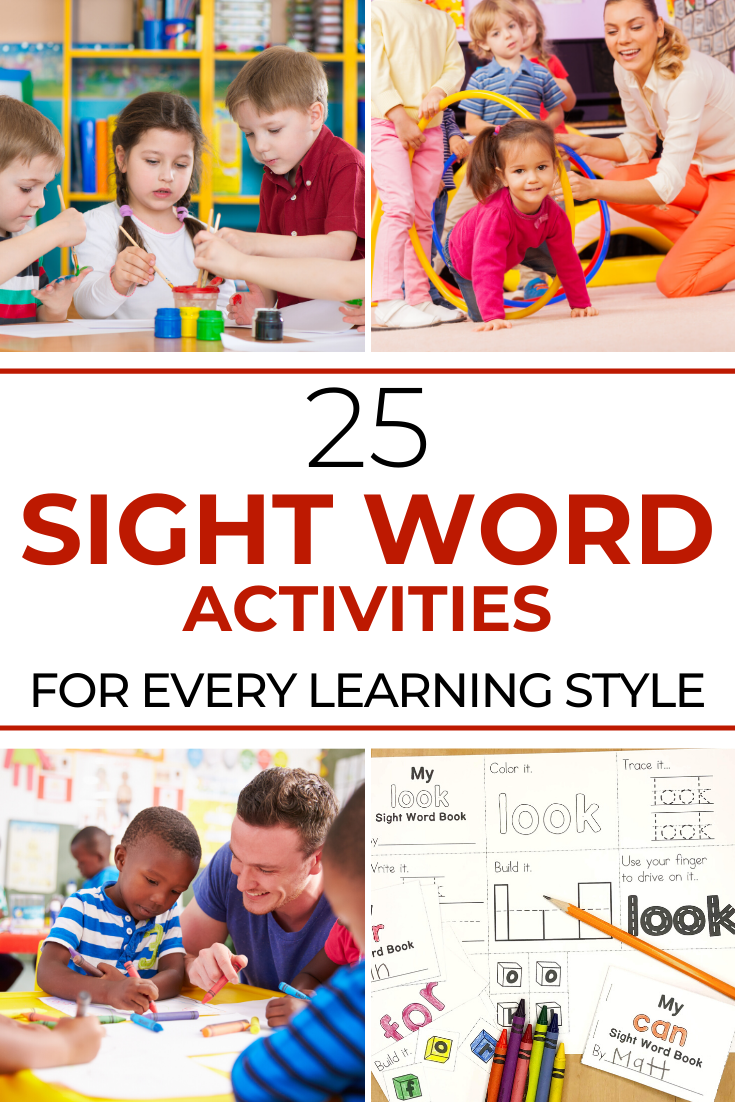 Sight Word Activities for every learning style