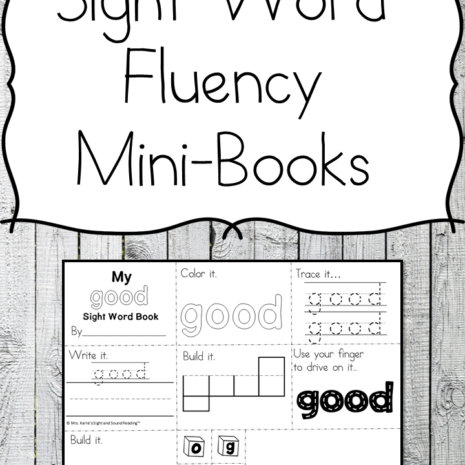 Sight Word Fluency Mini-books - Help your students with their sight word fluency using these fun books!