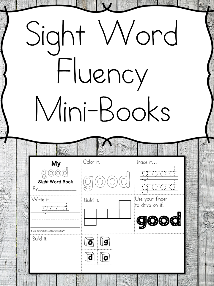 graphic about Sight Word Printable Books named Sight Phrase Fluency Mini-Publications
