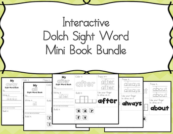 Dolch Sight Word Minibooks -Help with sight word fluency, make these sight word minibooks during literacy centers!