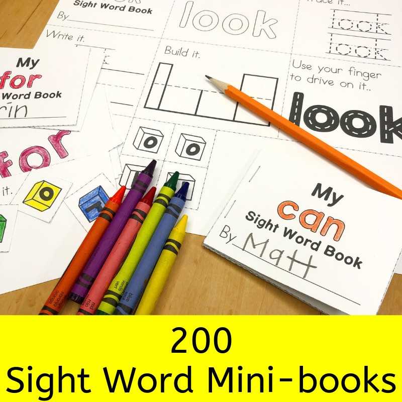Sight Word Mini Fluency Books