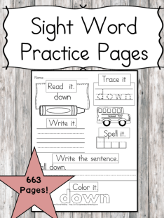 Sight Word Worksheet Bundle Title Image